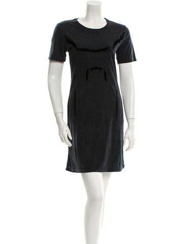 Theyskens' Theory Velvet Paneled Dress None