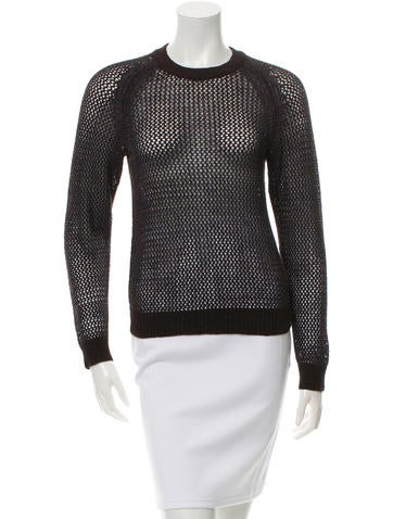 Theyskens' Theory Knit Crew Neck Sweater None
