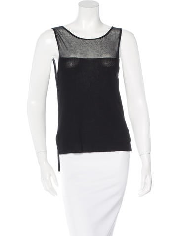 Theyskens' Theory Sleeveless Sheer Top None