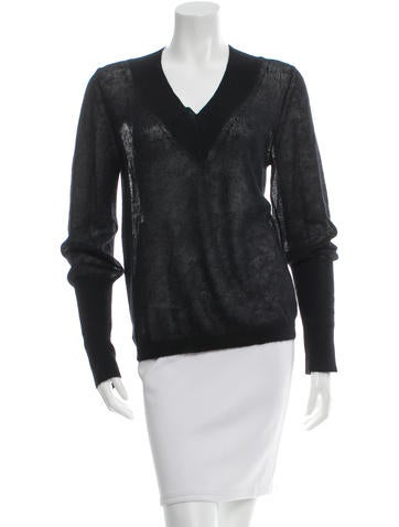 Theyskens' Theory V-Neck Knit Sweater None