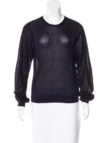 Theyskens' Theory Cashmere & Silk-Blend Sweater None