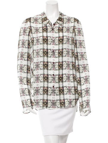 Theyskens' Theory Silk Printed Top None