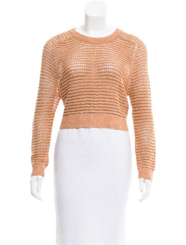 Theyskens' Theory Cropped Crew Neck Swetaer None