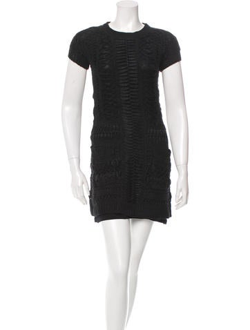 Theyskens' Theory Open Knit Mini Dress None