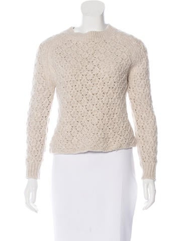 Theyskens' Theory Merino Wool Raglan Sleeve Sweater None