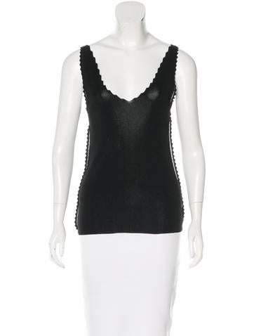 Theyskens' Theory Scalloped Sleeveless Top None