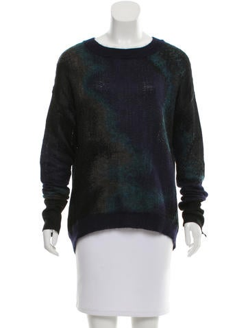 Theyskens' Theory Long Sleeve Patterned Sweater None