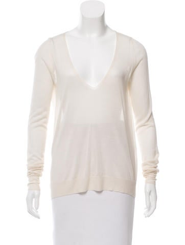 Theyskens' Theory Cashmere V-Neck Top None