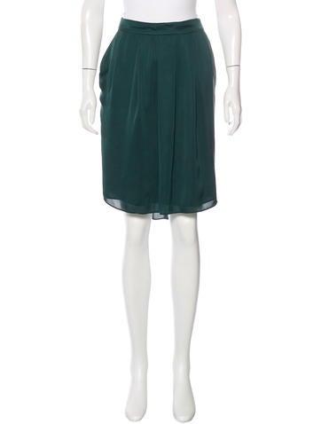 theyskens theory silk pleated skirt clothing