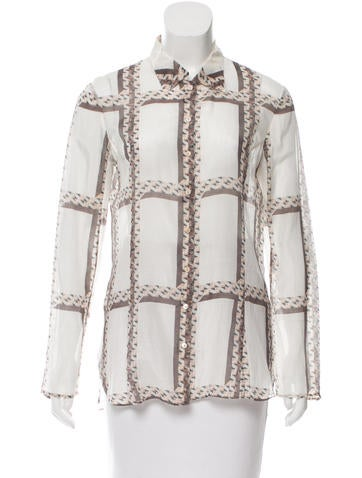 Theyskens' Theory Printed Button-Up Top None