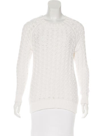 Theyskens' Theory Knit Long Sleeve Sweater None