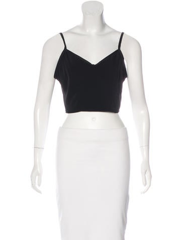 Theyskens' Theory Sleeveless Crop Top None