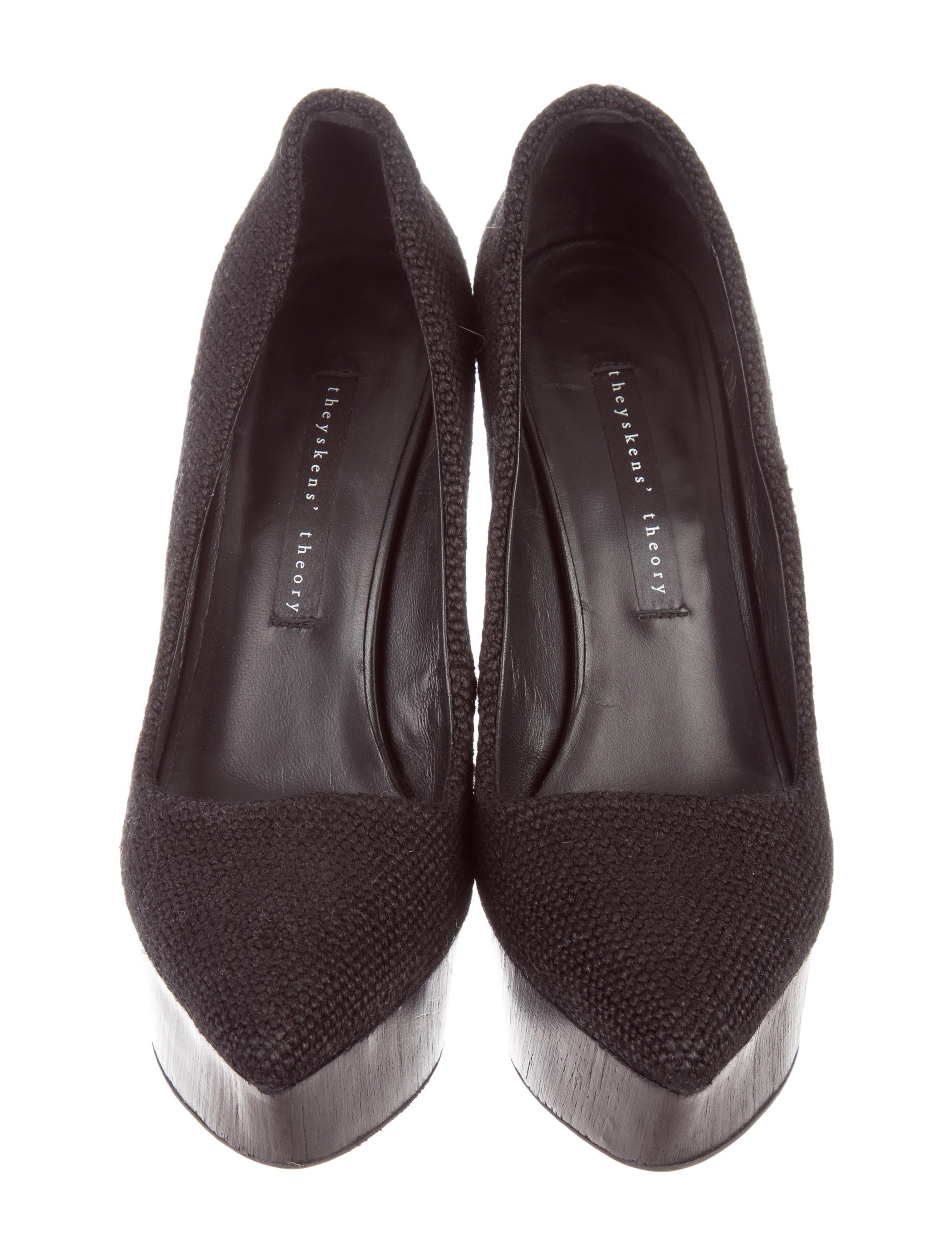 theyskens theory pointed toe platform wedges shoes