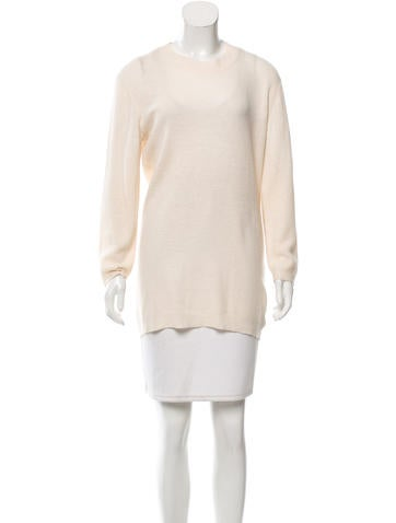 Theyskens' Theory Long Sleeve Wool Sweater None
