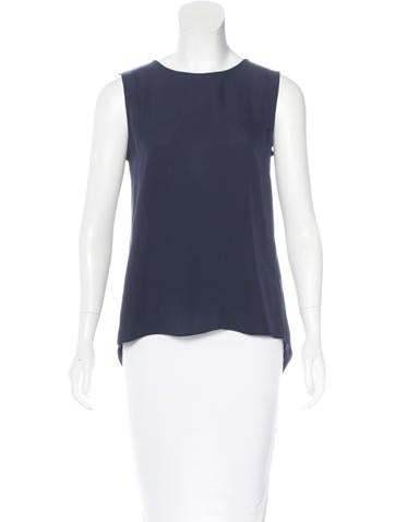 Theyskens' Theory Sleeveless Silk Top None