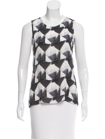Theyskens' Theory Printed Silk Top None
