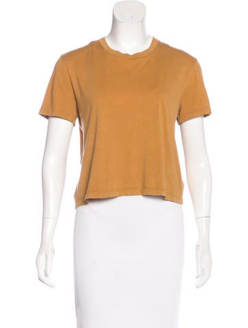 Theyskens' Theory Jersey Crop T-Shirt None