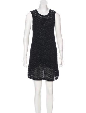 Theyskens' Theory Open Knit Mini Dress None