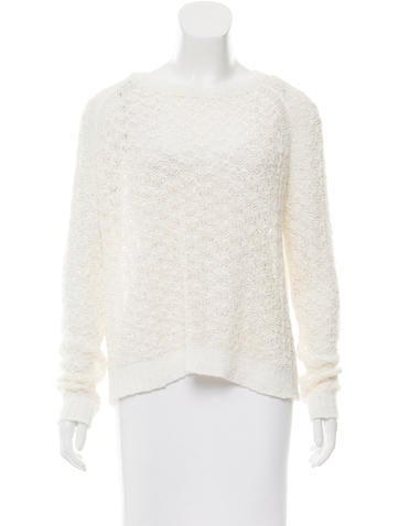 Theyskens' Theory Woven Mesh Sweater None