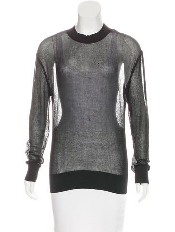 Theyskens' Theory Sheer Knit Top None