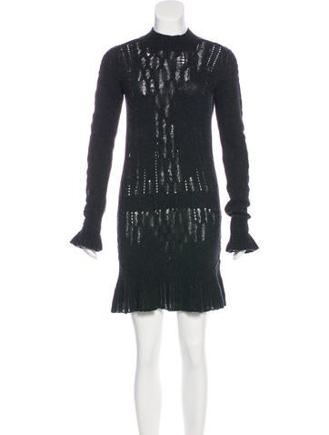 Theyskens' Theory Wool Sweater Dress None