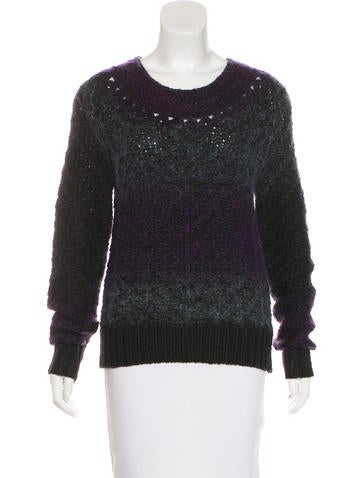Theyskens' Theory Open Knit Mohair-Blend Sweater None