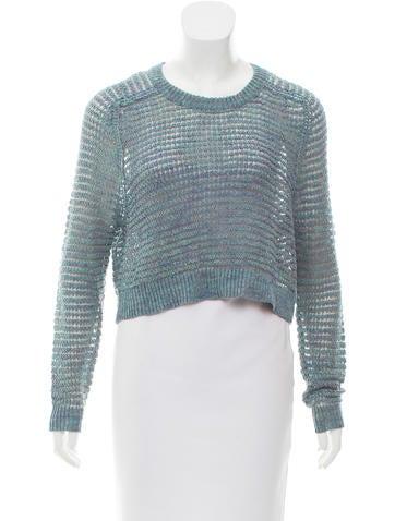 Theyskens' Theory Linen Open Knit Sweater None