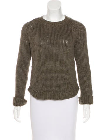 Theyskens' Theory Long Sleeve Knit Sweater None