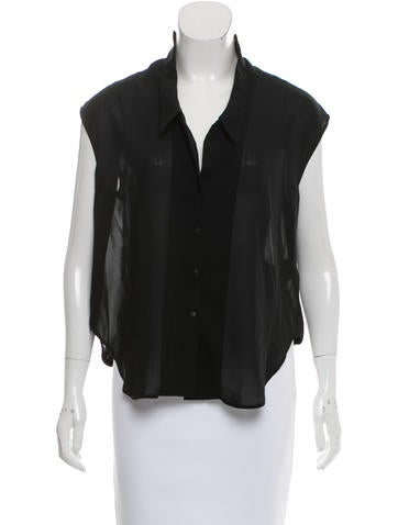 Theyskens' Theory Sleeveless Button-Up None