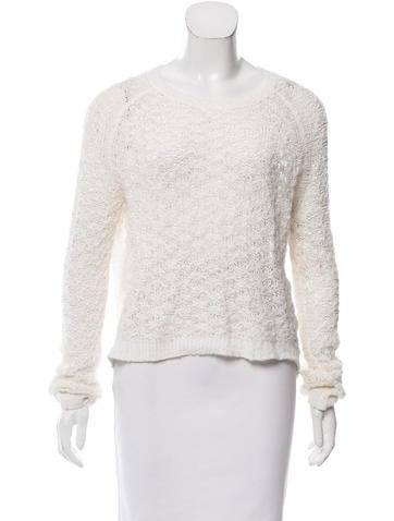 Theyskens' Theory Open Knit Scoop Neck Sweater None