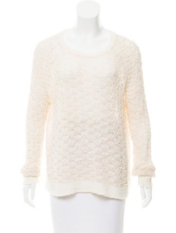 Theyskens' Theory Textured Open Knit Sweater None