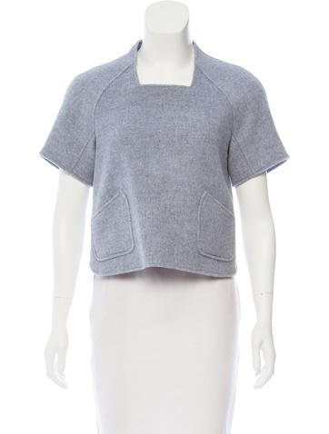 Theyskens' Theory Wool Short Sleeve Top None