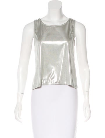 Theyskens' Theory Metallic Sleeveless Top None