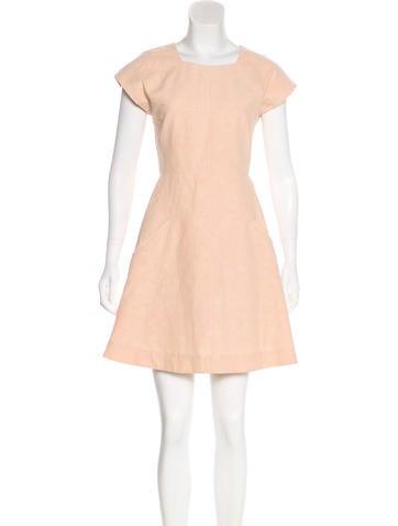 Theyskens' Theory Cap-Sleeve Mini Dress None