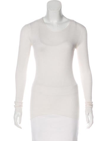 Theyskens' Theory Knit Silk Top None