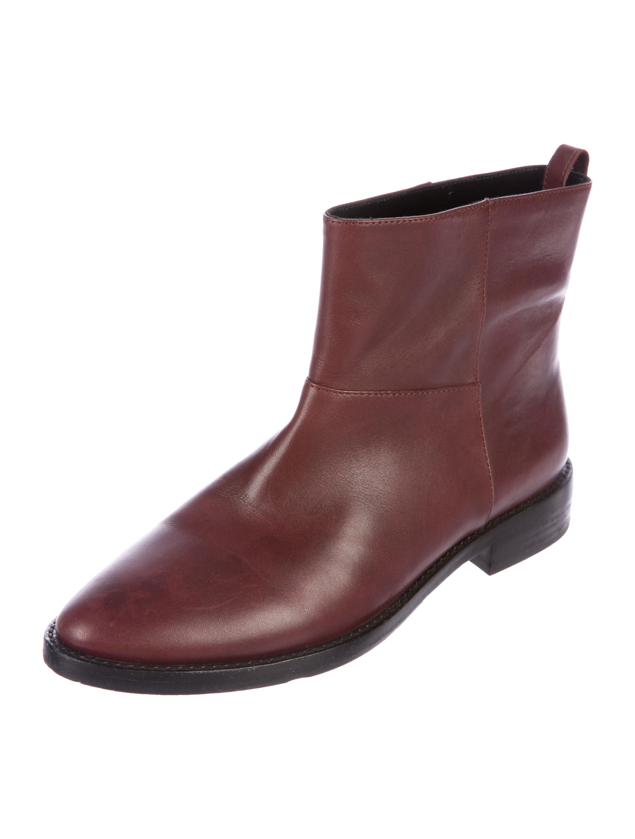 discount shop offer sale best wholesale Theyskens' Theory Leather Semi Pointed-Toe Ankle Boots cYWb2ly
