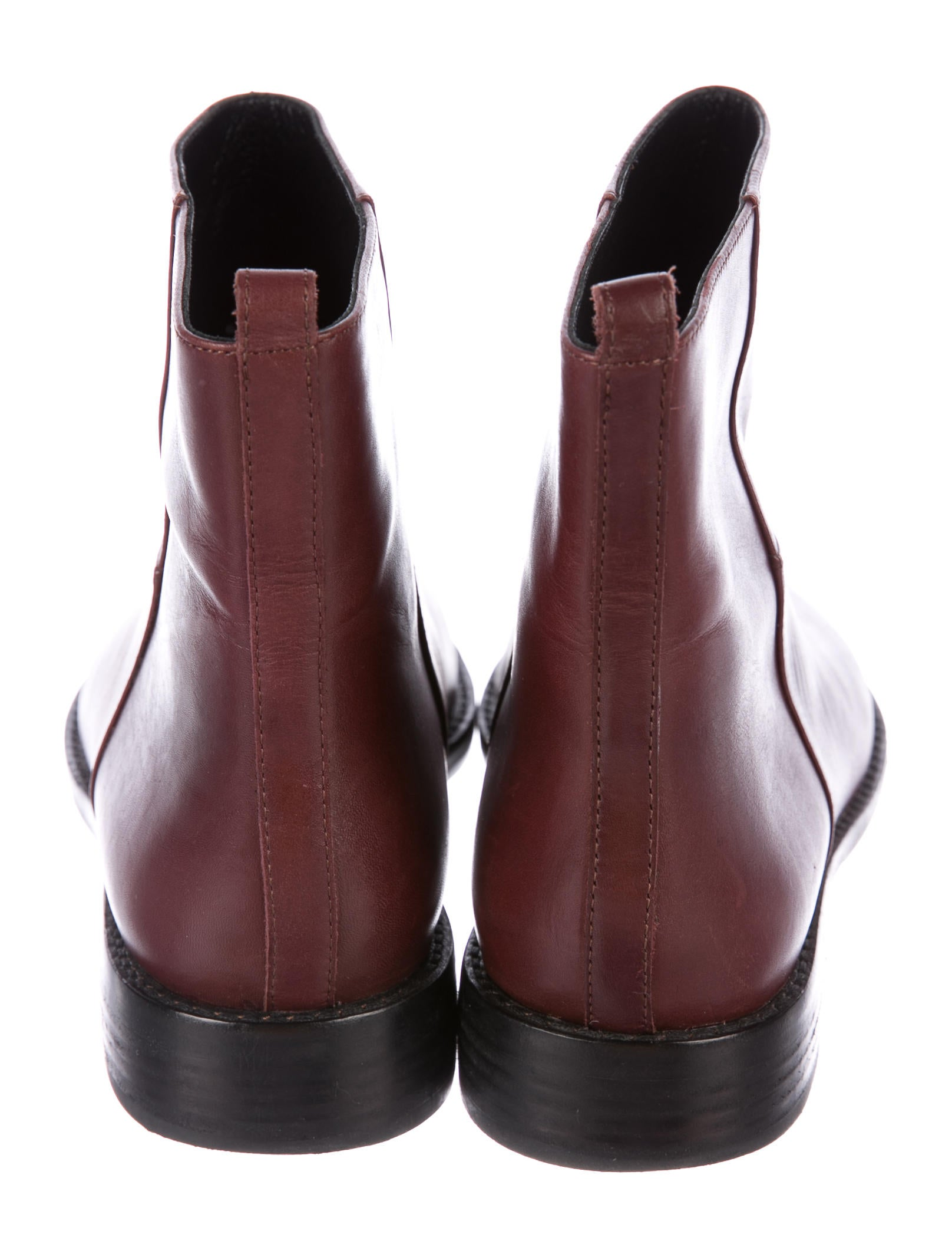 genuine cheap price outlet official site Theyskens' Theory Leather Semi Pointed-Toe Ankle Boots high quality online uaRkYy