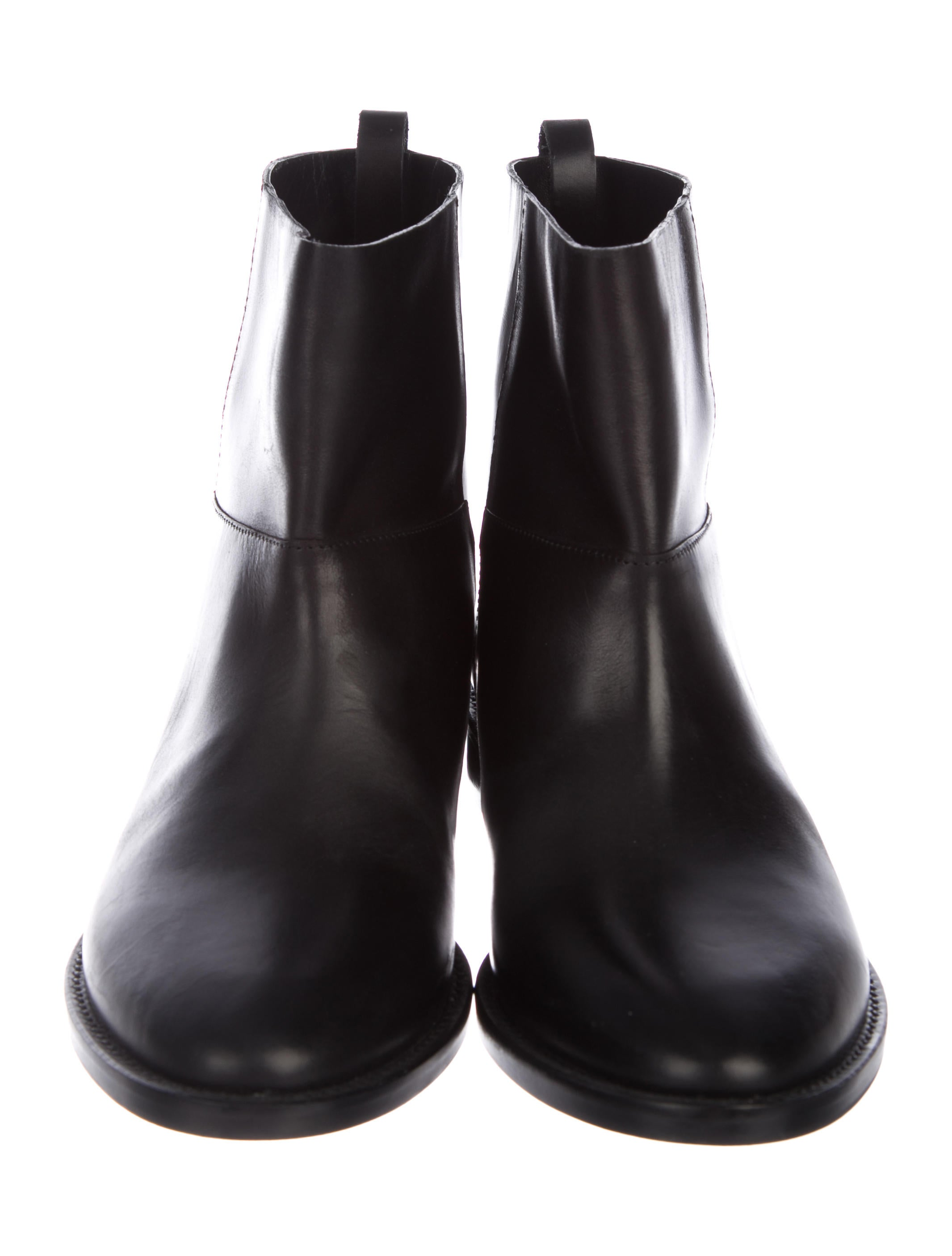 high quality cheap online Theory Patent Leather Round-Toe Booties authentic low shipping fee for sale 100% original pick a best hPdZSVjjkn