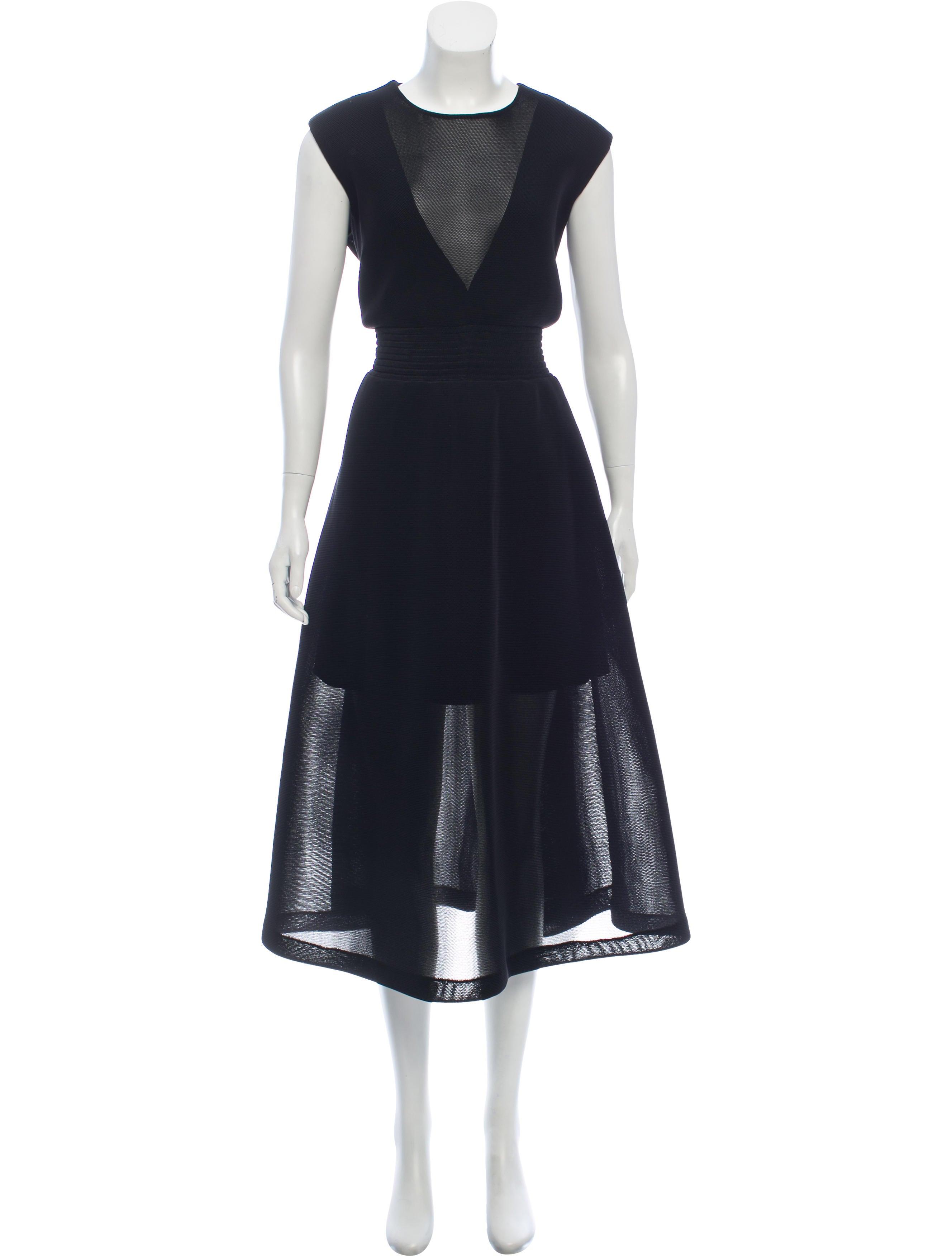 32c9976001 Theyskens' Theory Sleeveless Midi Dress - Clothing - WTHYS26771 ...