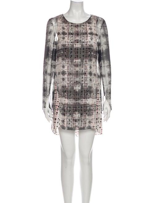 Theyskens' Theory Silk Mini Dress White