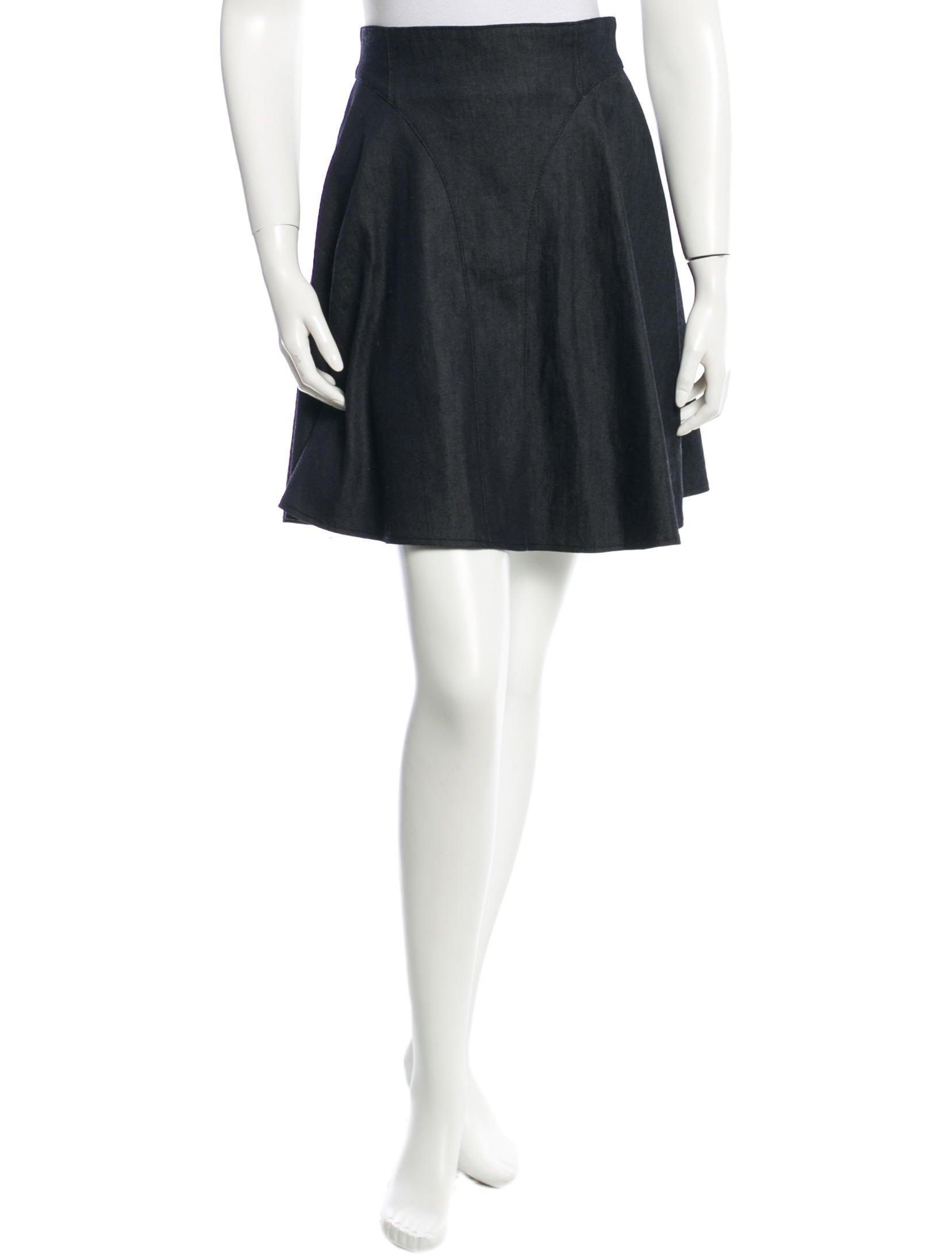 tibi denim flared skirt clothing wti26473 the realreal