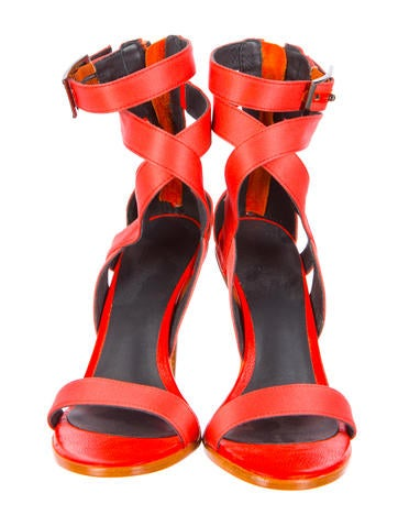 Multistrap Satin Sandals