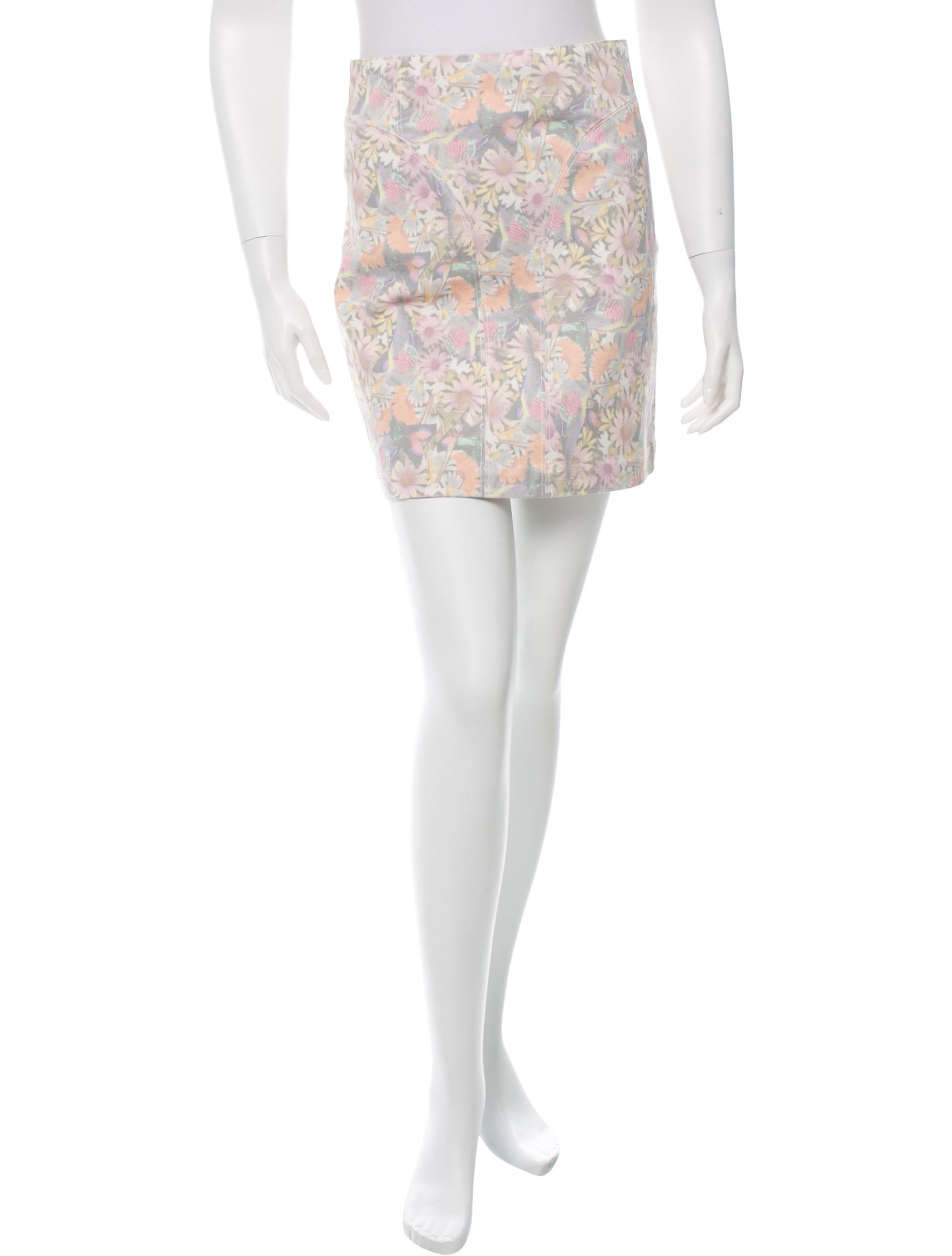 tibi floral denim mini skirt w tags clothing wti27704
