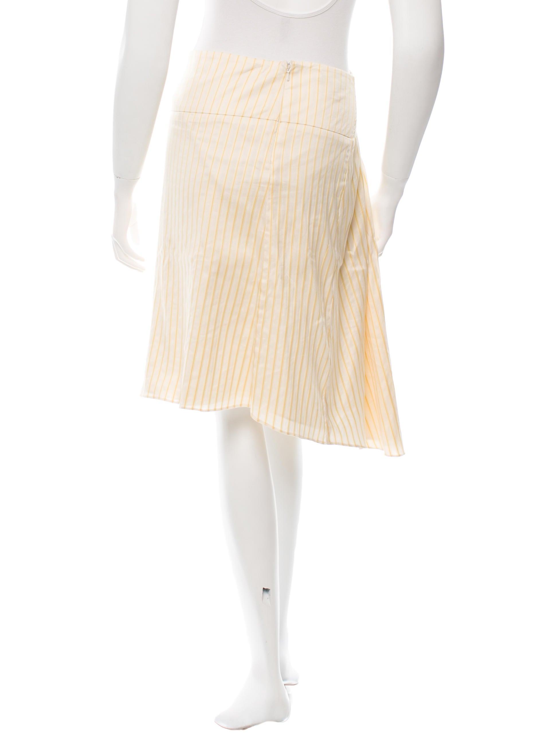 tibi pleated stripe print skirt clothing wti27818