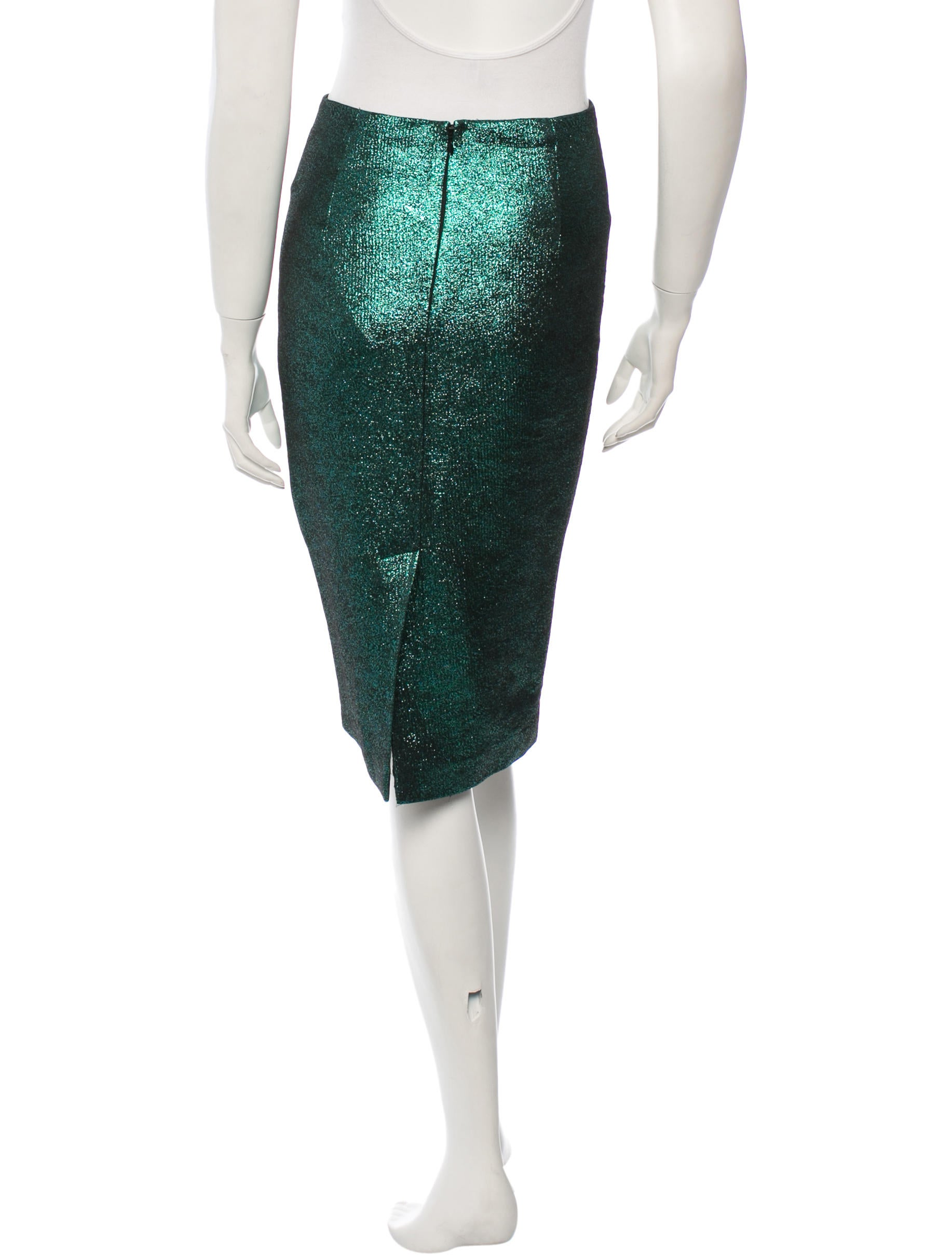 tibi metallic pencil skirt clothing wti28406 the