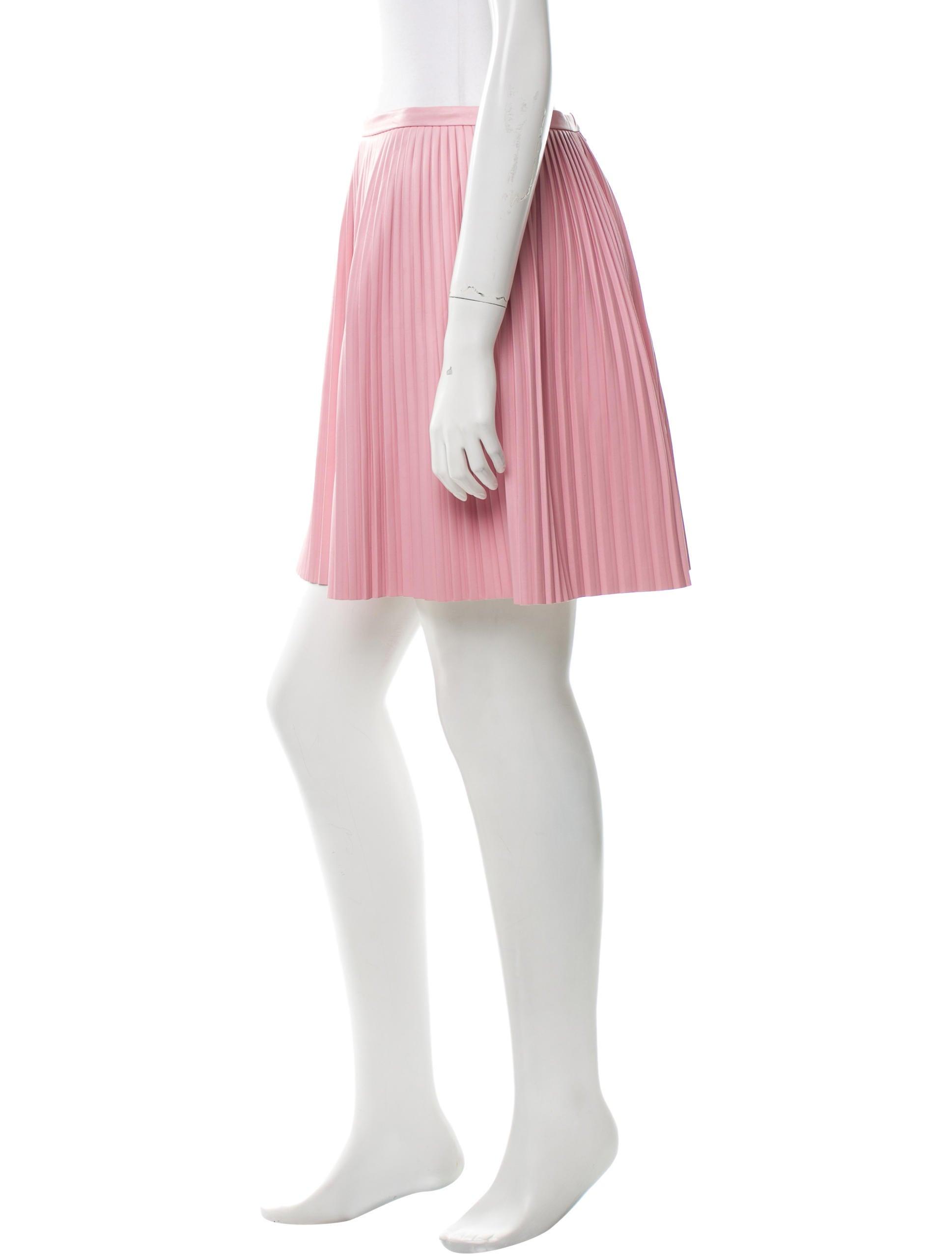 tibi vegan leather pleated skirt clothing wti30375