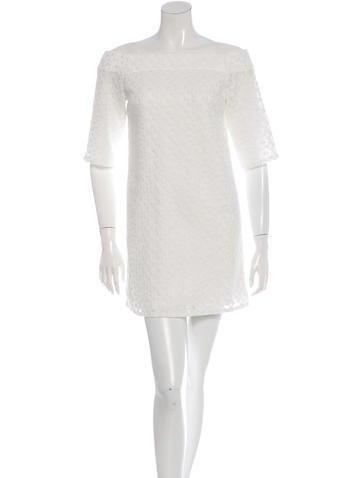 Tibi Embroidered Mini Dress