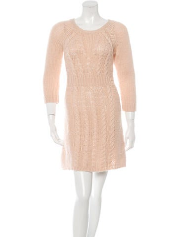 Tibi Cable Knit A-Line Dress None