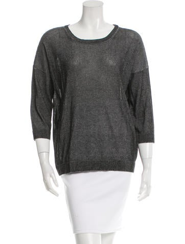 Tibi Oversize Semi-Sheer Sweater None
