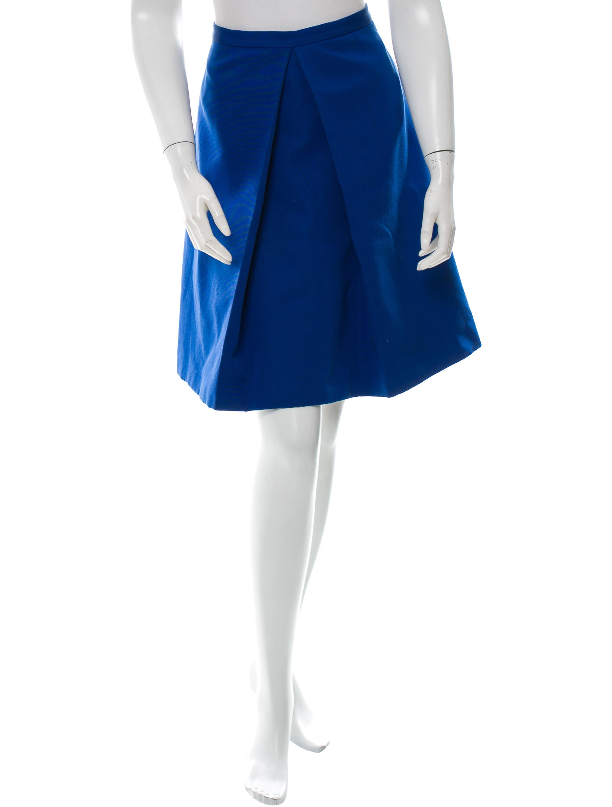 tibi knee length a line skirt clothing wti31541 the